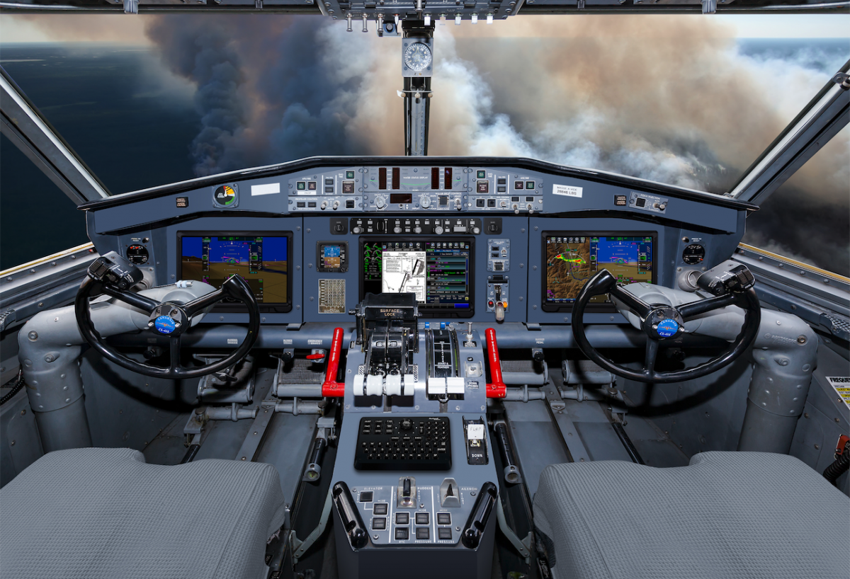 Viking Canadair 515 Flight Deck